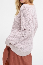 Listicle V-Neck Popcorn Sweater - Side cropped