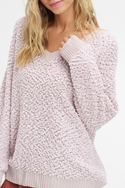 Listicle V-Neck Popcorn Sweater - Other