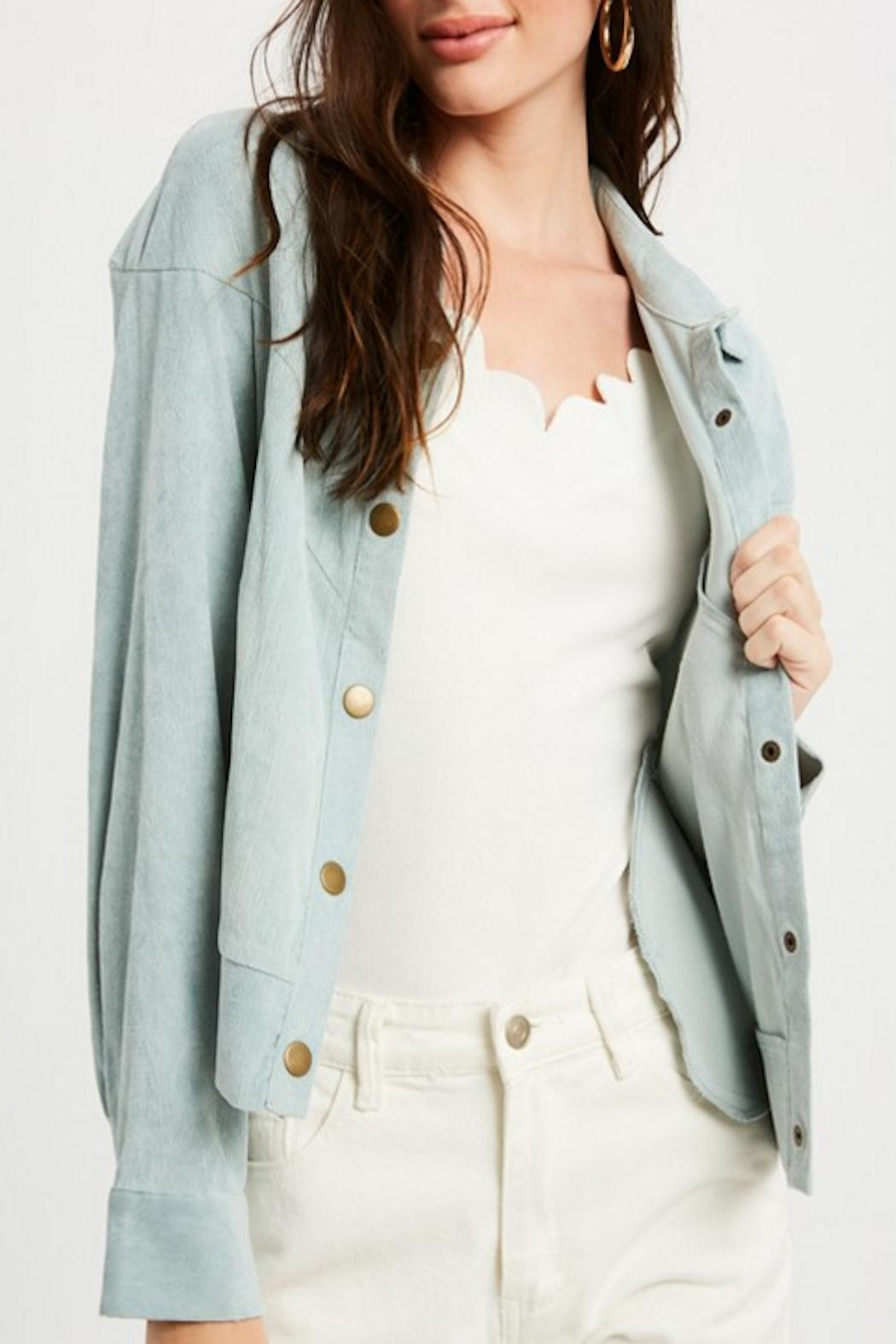 Listicle Vintage Corduroy Jacket - Front Cropped Image