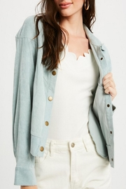 Listicle Vintage Corduroy Jacket - Front cropped