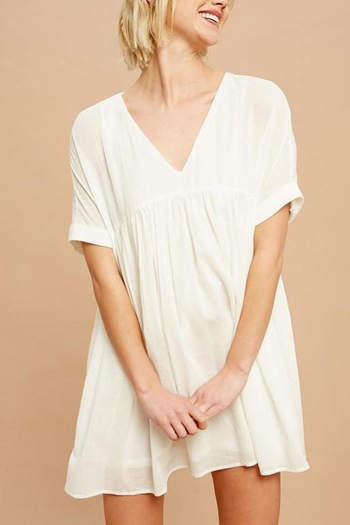 Listicle White Tunic Dress from Virginia by mod&soul — Shoptiques