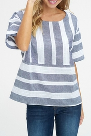 Listicle Wide Stripe Top - Product Mini Image