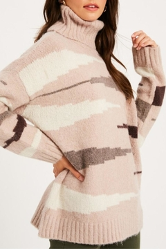 Listicle Zebra Print Turtleneck - Alternate List Image