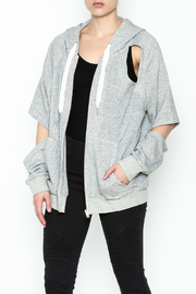 Lits Slit Shoulder Hoodie - Product Mini Image