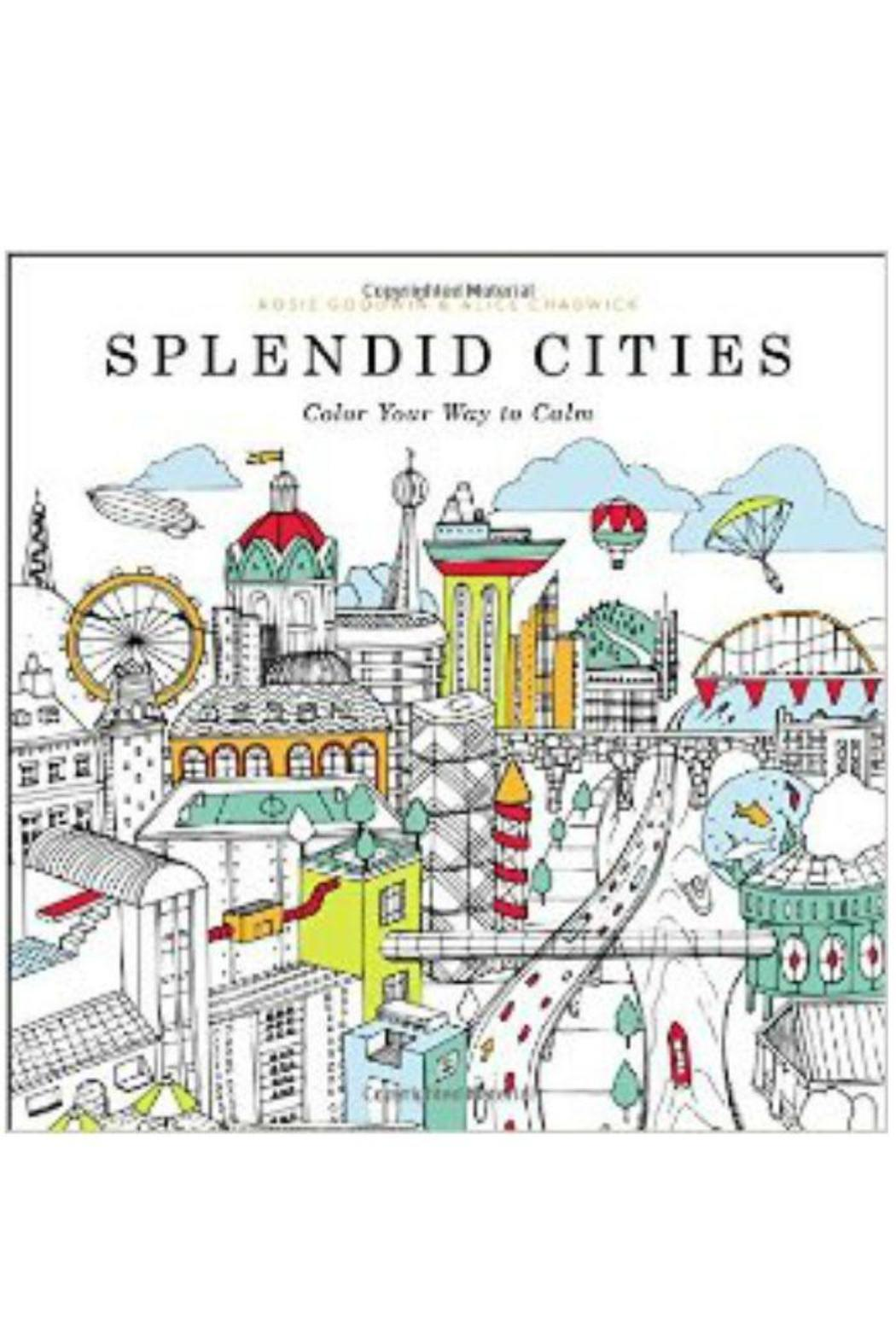Little Brown And Company Splendid Cities Colorbook From