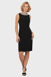 Joseph Ribkoff little black dress with pearl accent at neckline - Product Mini Image