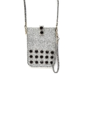 Treska Little Black/White Purse - Front cropped