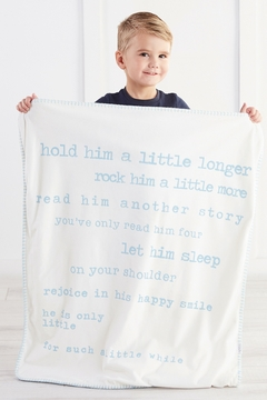 Mud Pie Little Boy Sherpa Blanket - Alternate List Image