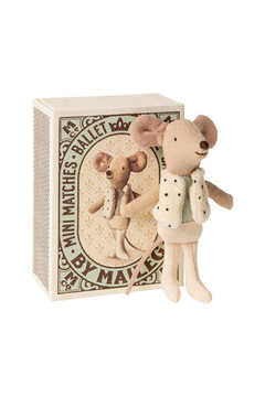 Maileg Little Brother Dancer In Matchbox - Product List Image