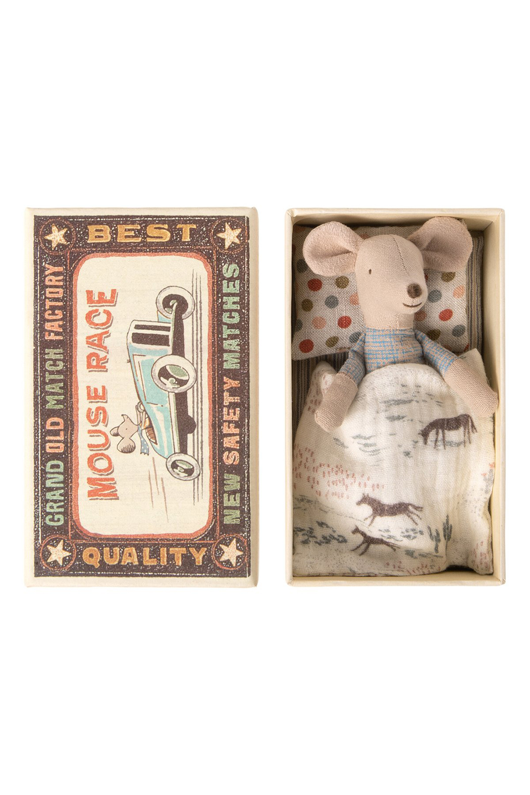 Maileg Little Brother Mouse In Matchbox - Main Image
