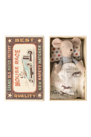 Maileg Little Brother Mouse In Matchbox - Front cropped