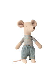 Maileg Little Brother Mouse In Matchbox - Front full body