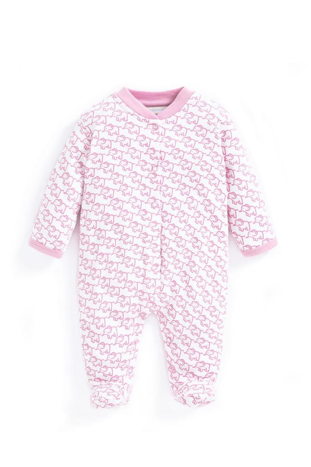 JoJo Maman Bebe Little Elephant Sleepsuit - Main Image