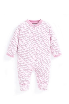 JoJo Maman Bebe Little Elephant Sleepsuit - Alternate List Image