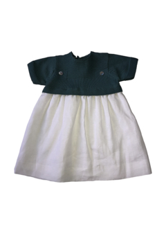 CARMINA LITTLE GIRLS' KNIT TOP/LINEN DRESS - Alternate List Image