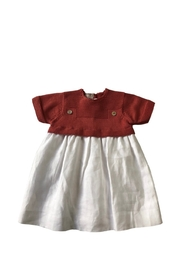 CARMINA LITTLE GIRLS' KNIT TOP/LINEN DRESS - Product Mini Image