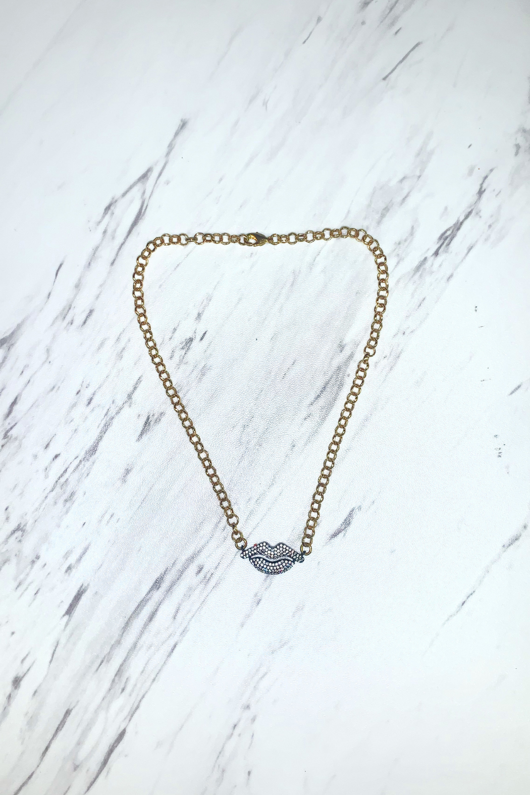 Love, Lisa (formerly TrendsRus) Little Lips Choker - Front Cropped Image