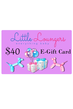 Little Loungers 40 Dollar E Gift Card | Baby Shower Gifting | Occassion Gifting - Alternate List Image