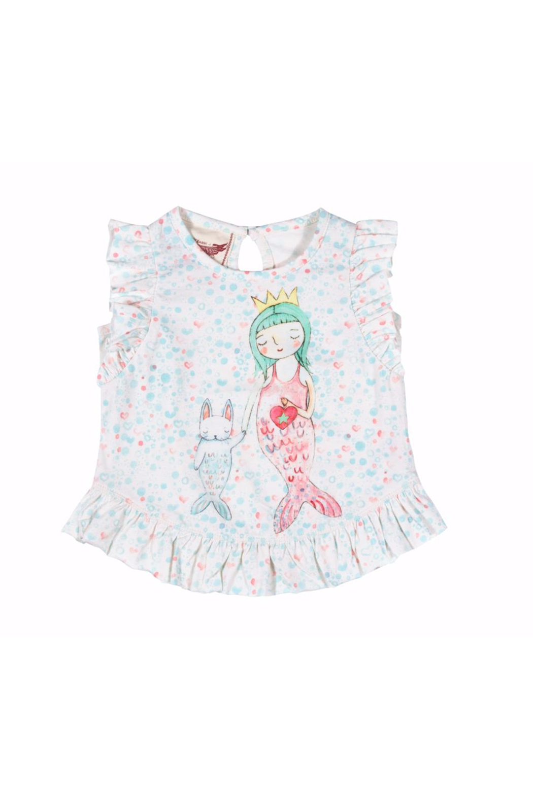 Paper Wings Little Mermaid Frilled Tank Top - Front Cropped Image