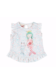 Paper Wings Little Mermaid Frilled Tank Top - Product List Image