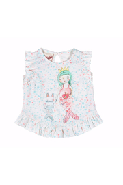 Paper Wings Little Mermaid Frilled Tank Top - Front cropped