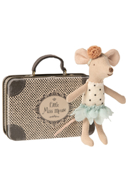 Maileg Little Miss Mouse In Suitcase - Front cropped