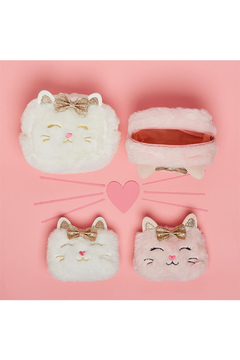 Cupcake and Cartwheels Little Miss Purrrfect Kitty Glitter Bags Large - Alternate List Image
