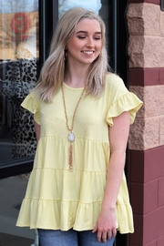 entro  Little Miss Sunshine Tiered Ruffle Top - Product Mini Image