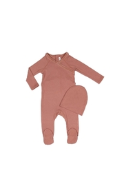 Little Parni  Baby Onesie with Hat - Front cropped