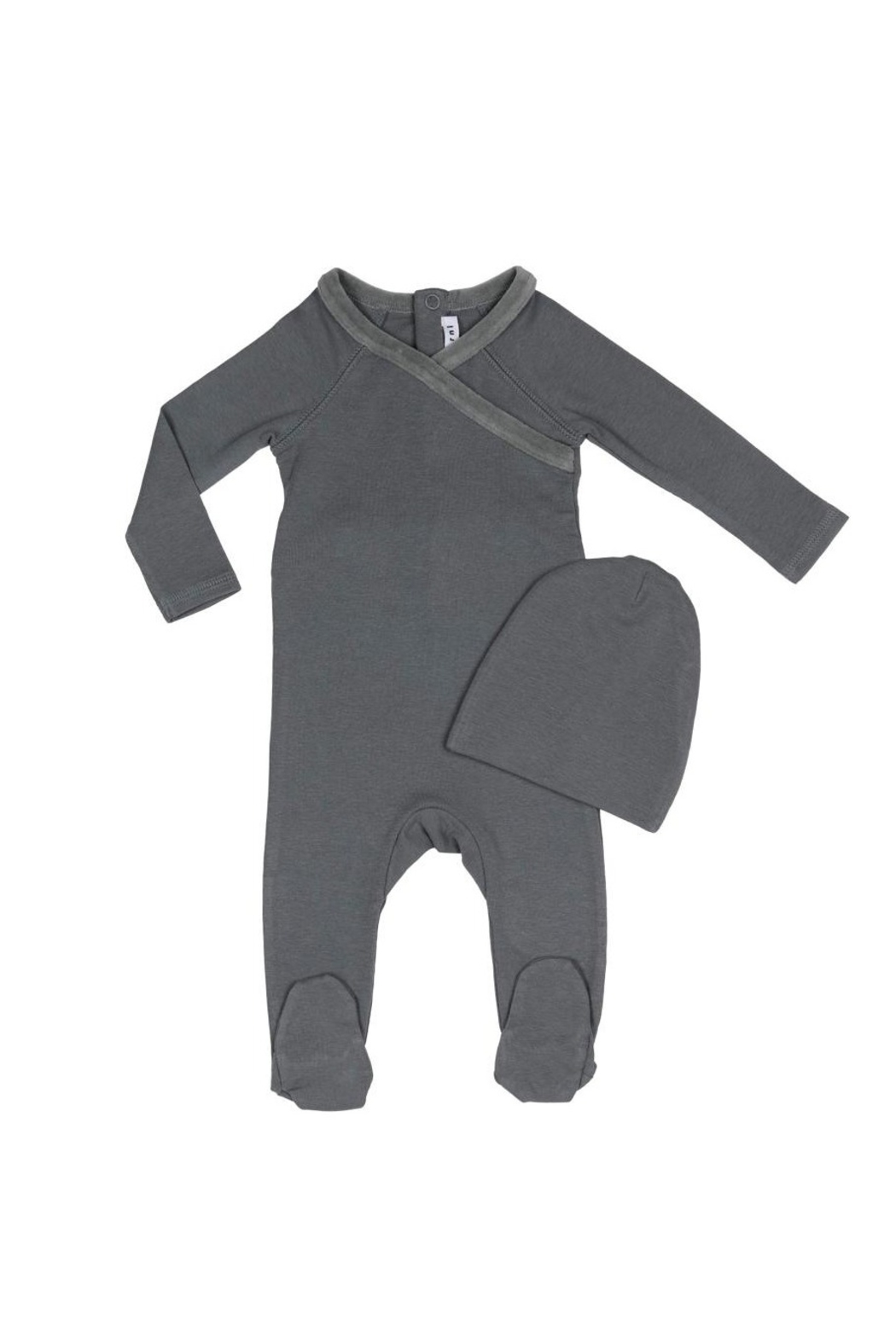 Little Parni  Baby Onesie with Hat - Front Full Image
