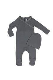 Little Parni  Baby Onesie with Hat - Front full body