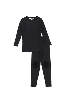 Shoptiques Product: LITTLE PARNI KIDS VELOUR KNEE PATCH PAJAMAS