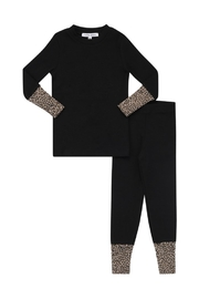 Little Parni  Leapord Trim Pajama Set for Boys or Girls - Product Mini Image