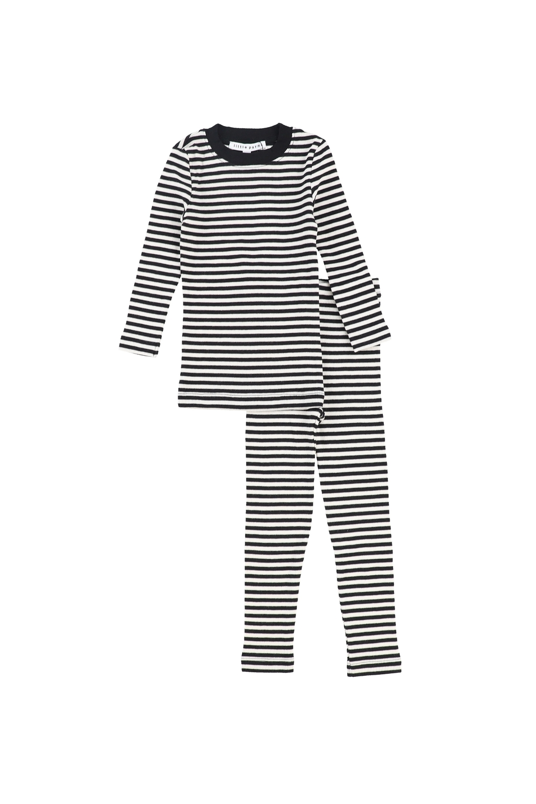 Little Parni  LITTLE PARNI RIBBED KNIT PAJAMAS - Front Cropped Image