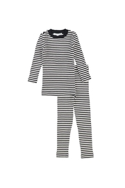 Little Parni  LITTLE PARNI RIBBED KNIT PAJAMAS - Front cropped