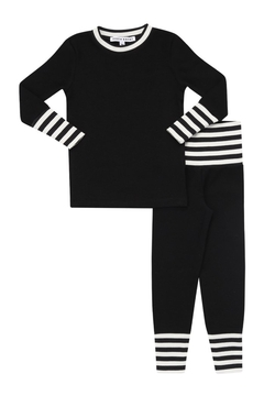 Shoptiques Product: Little Parni Stripped Cuff Pajama Set for Boys or Girls | Premium Cotton Sleepwear