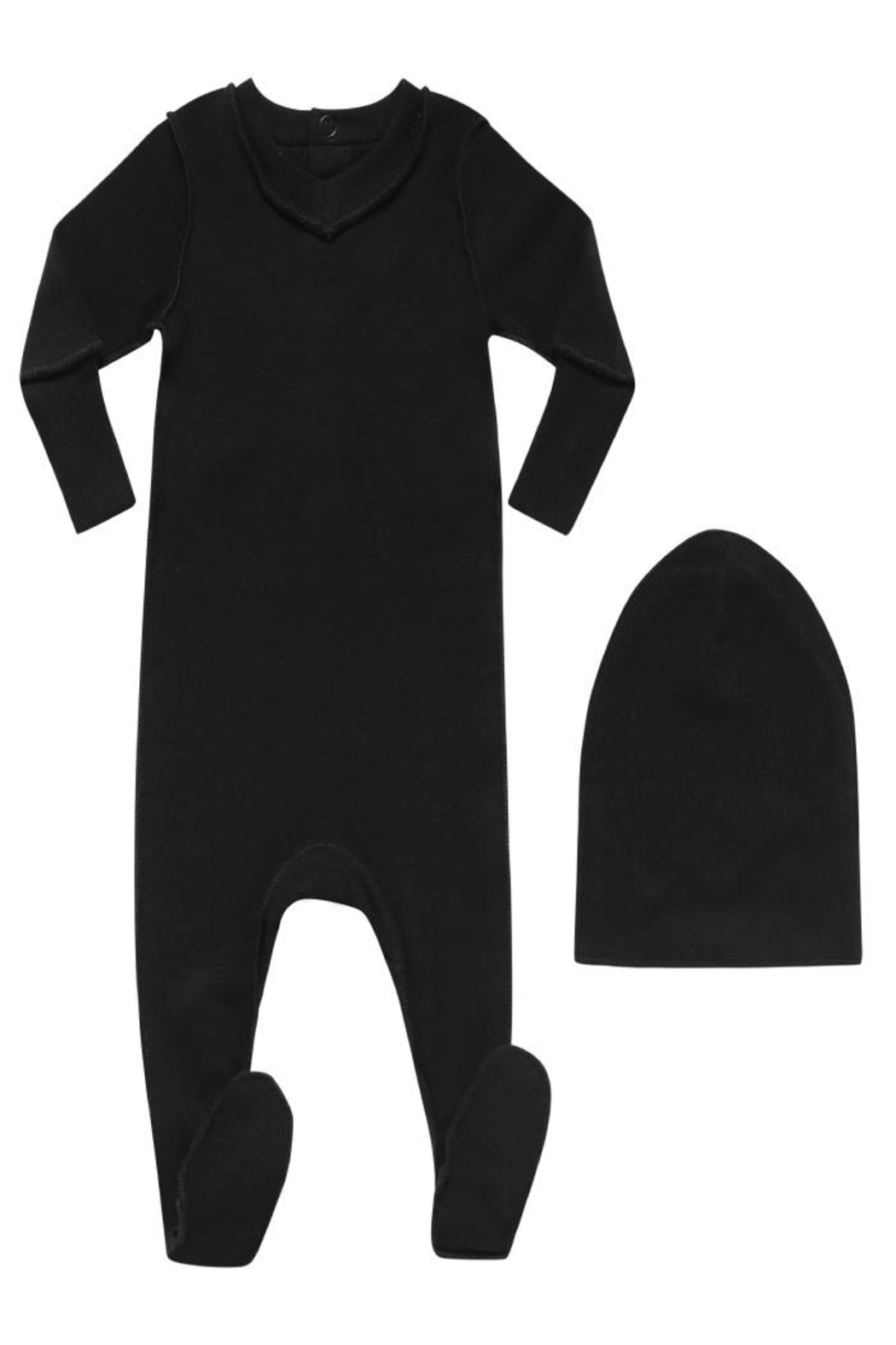 Little Parni  V-Neck Onesie Footie with Beanie | Premium wear Cotton Sleepwear - Main Image