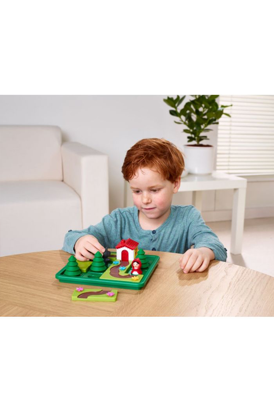 SmartGames Little Red Riding Hood Deluxe Preschool Puzzle Game - Back Cropped Image