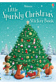 Usborne Little Sparkly Sticker Book: Christmas - Front cropped