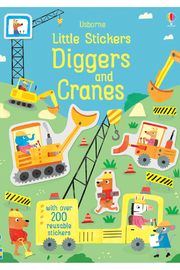 Usborne Little Stickers Diggers and Cranes - Product Mini Image