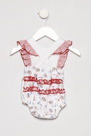 Little Threads Crossover Sunsuit - Back cropped