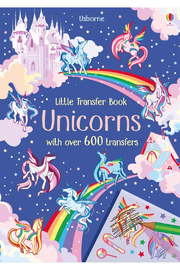 Usborne Little Transfer Book: Unicorns - Front cropped