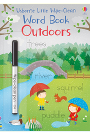 Usborne Little Wipe-Clean Word Book: Outdoors - Product Mini Image