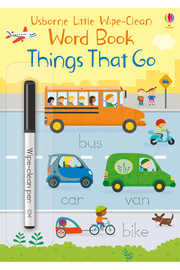 Usborne Little Wipe-Clean Word Book: Things That Go - Front cropped