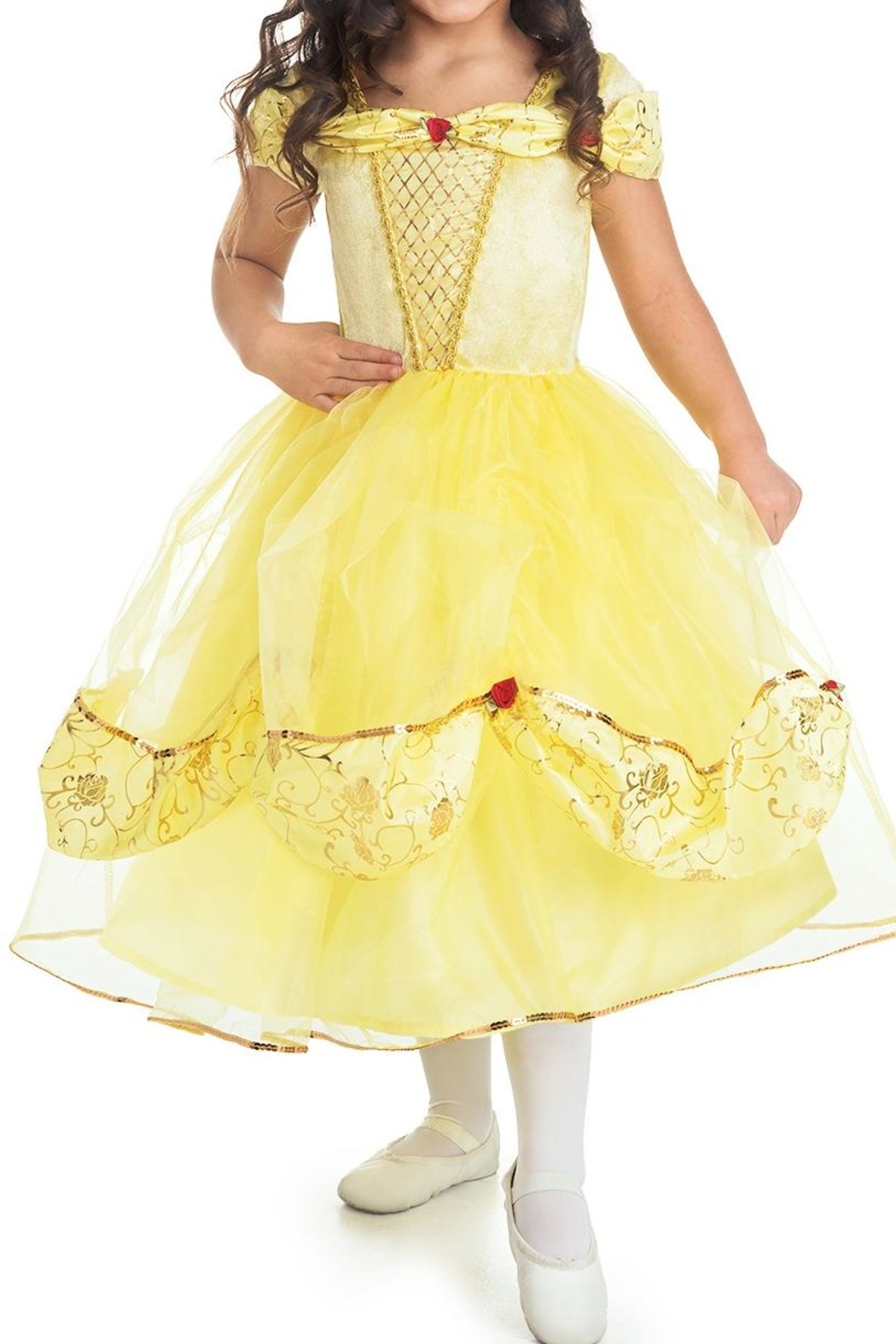Little Adventures Yellow Princess Dress - Front Cropped Image