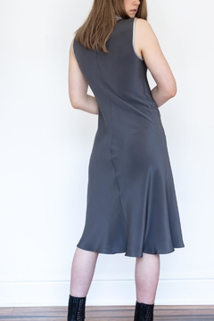 Little Black Dress Gray Silk Dress - Alternate List Image