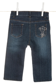 LITTLE GIRAFFE Baby Blue Jeans - Product Mini Image