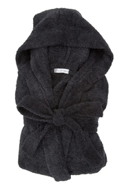 LITTLE GIRAFFE Black Hoodied Robe - Product Mini Image
