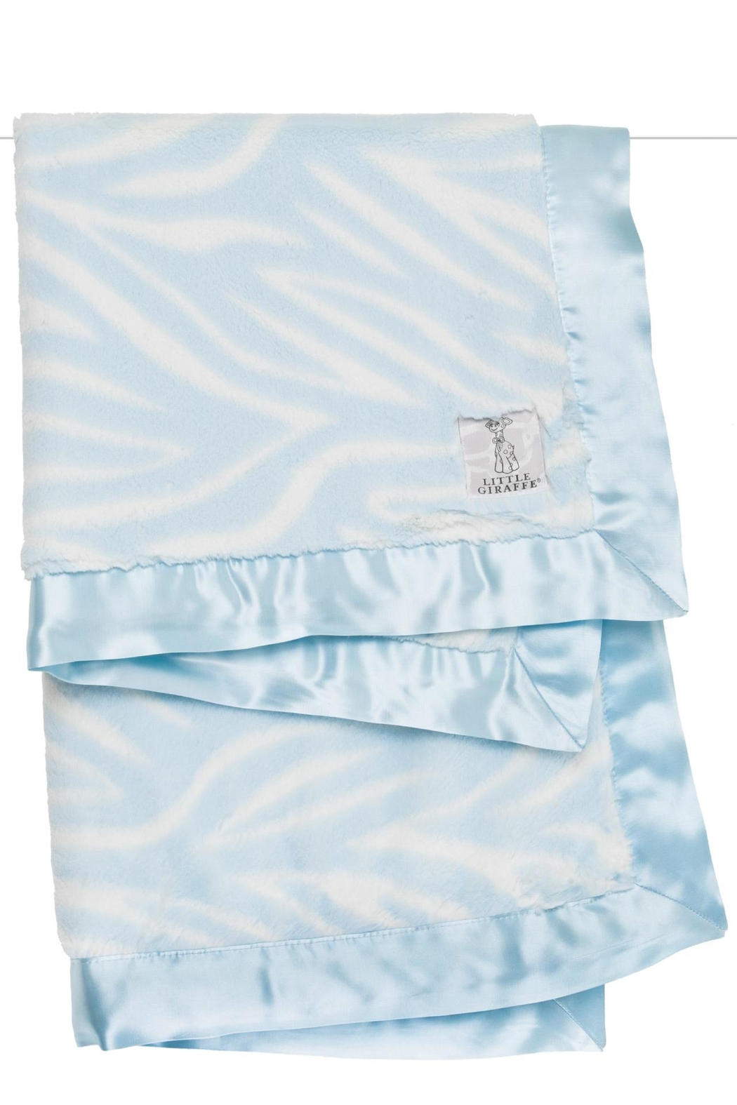LITTLE GIRAFFE Blue Zebra Blanket - Main Image
