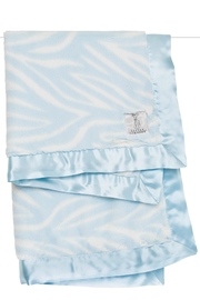 LITTLE GIRAFFE Blue Zebra Blanket - Front cropped